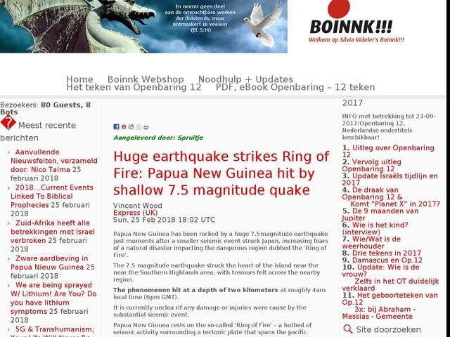 Zware aardbeving in Papua Nieuw Guinea