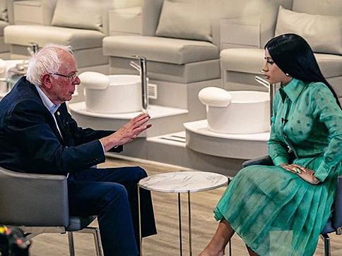 Cardi B Interviewed Bernie Sanders ...