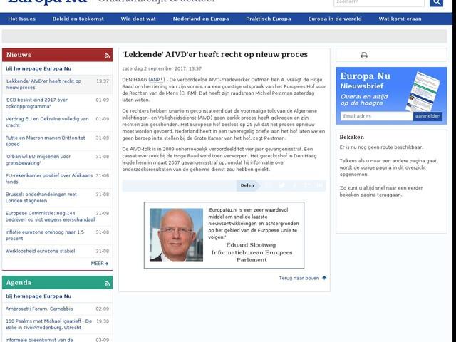 'Lekkende' AIVD'er heeft recht op nieuw proces