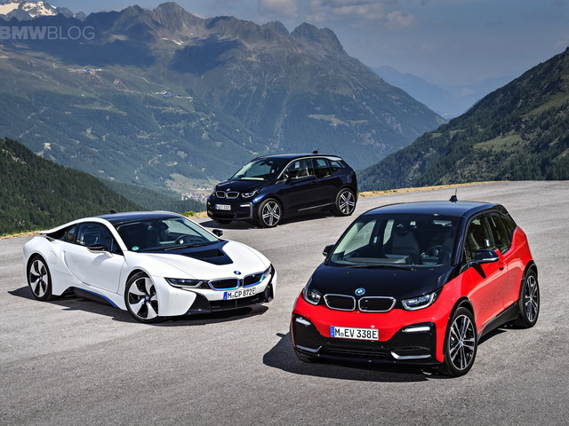 Family Photo: BMW i3 Facelift, i3s and i8 hybrid