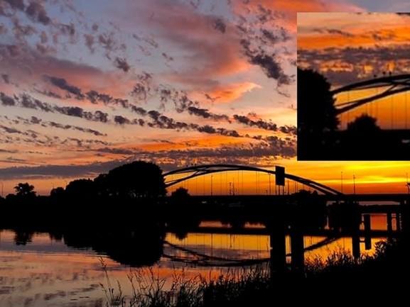 Zijn dat nou mensen op de boog van deze brug in Hasselt?