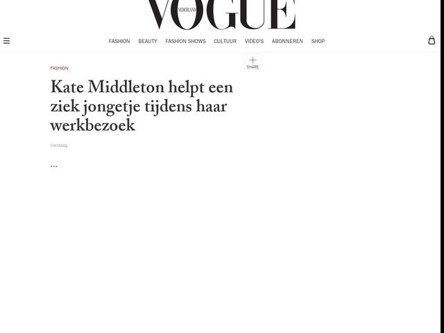 Kate Middleton helpt een ziek jongetje tijdens haar werkbezoek