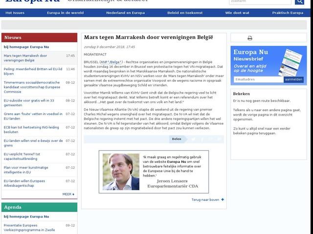 Mars tegen Marrakesh door verenigingen België