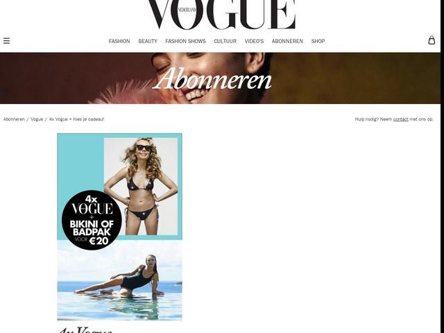 4x Vogue + Kies je cadeau!