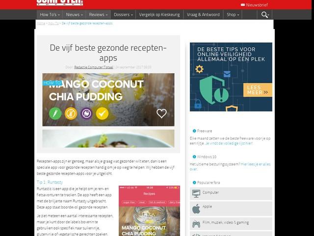 De vijf beste gezonde recepten-apps