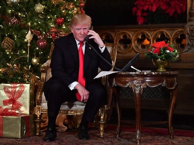 Ook met Kerst aan de lippen van Trump