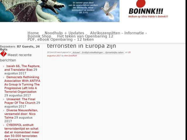 CYBERPOL onthult terroristenlijst en schat dat er momenteel meer dan 50.000 terroristen in Europa zijn