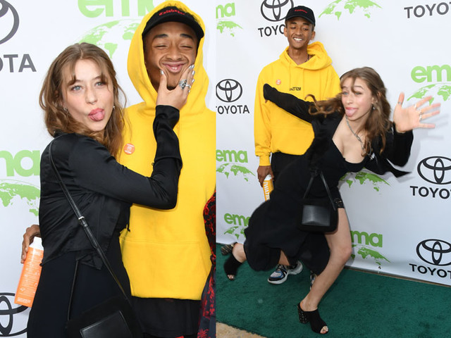 Icon Swirlin': Jaden Smith Brings His Latest Wild White Girlfriend To The EMA Awards