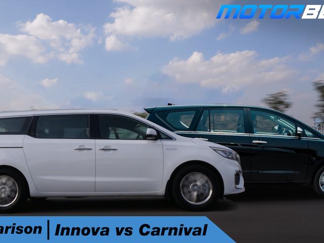 Kia Carnival vs Toyota Innova Comparison – Hindi [Video]