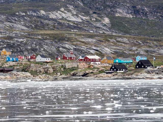 Ein Aquarell mit unseren Entdeckungen im Grönlandeis