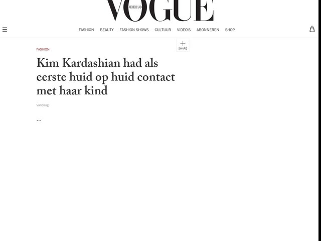 Kim Kardashian had als eerste huid op huid contact met haar kind