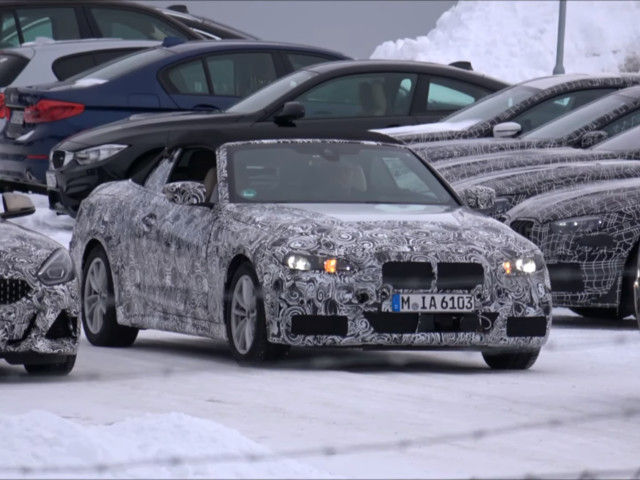 SPIED: BMW 4 Series Convertible caught with its top down