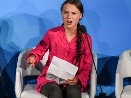 Truth To Power: Activist Greta Thunberg Rips Janky A$$ Politicians New Arsehole At #UNGA For Being Weak On Climate Change [Video]