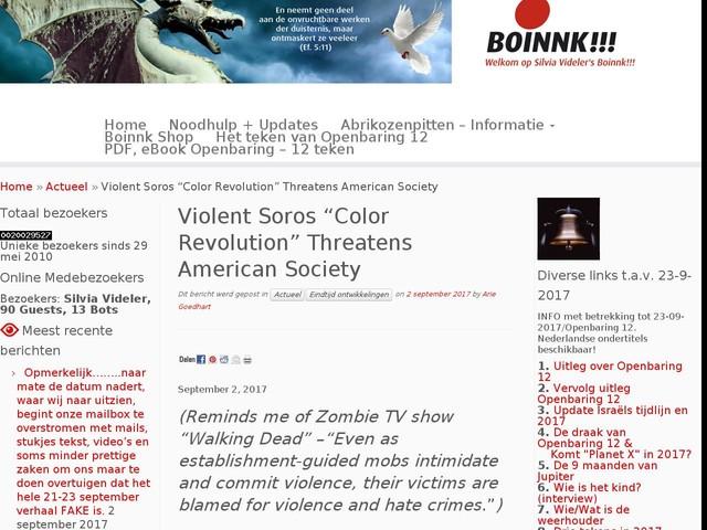 "Violent Soros ""Color Revolution"" Threatens American Society"
