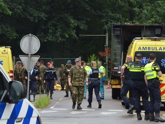 'Aspirant militairen waren niet aan het schuilen, maar bezig met militaire oefening'
