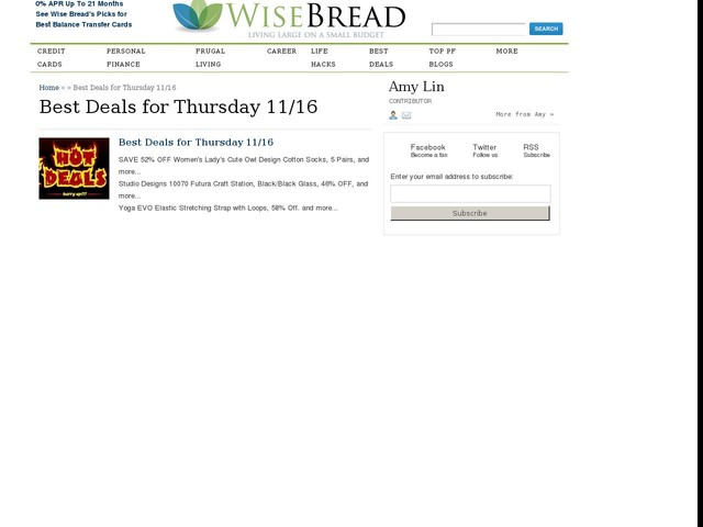 Best Deals for Thursday 11/16