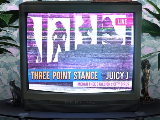 "Juicy J Taps City Girls & Megan Thee Stallion for ""Three Point Stance"""