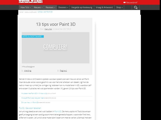 13 tips voor Paint 3D
