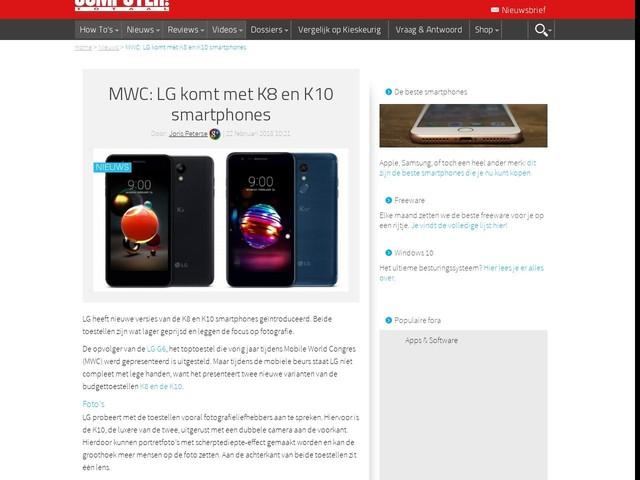 MWC: LG komt met K8 en K10 smartphones