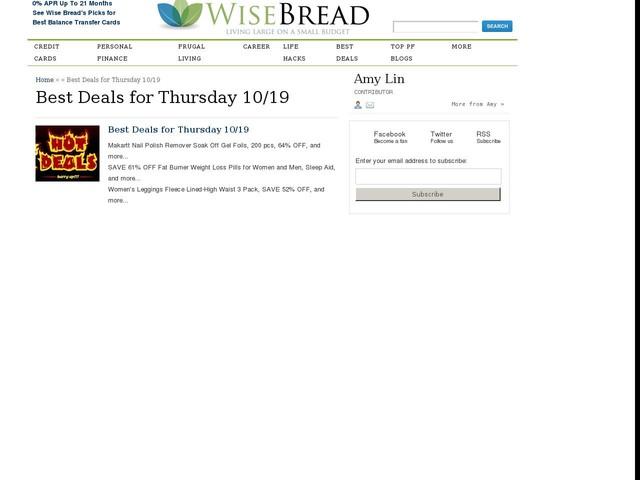 Best Deals for Thursday 10/19