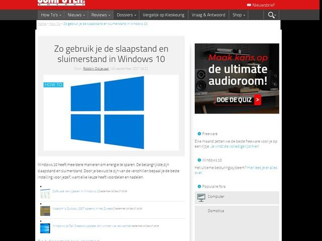 Zo gebruik je de slaapstand en sluimerstand in Windows 10