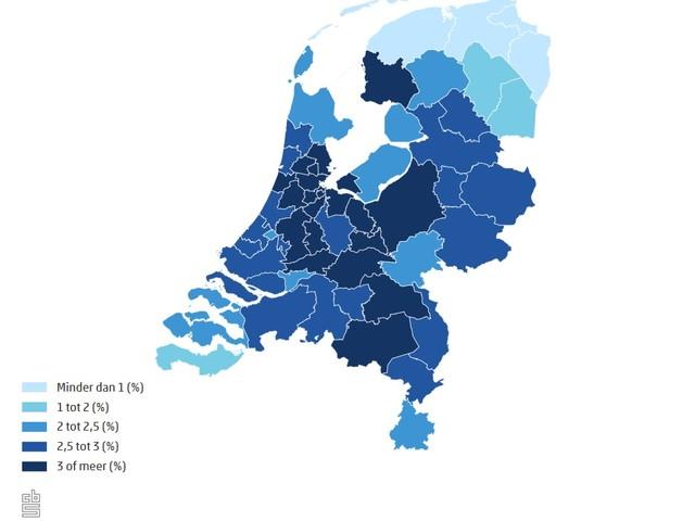 Bijna alle provincies zien lagere economische groei