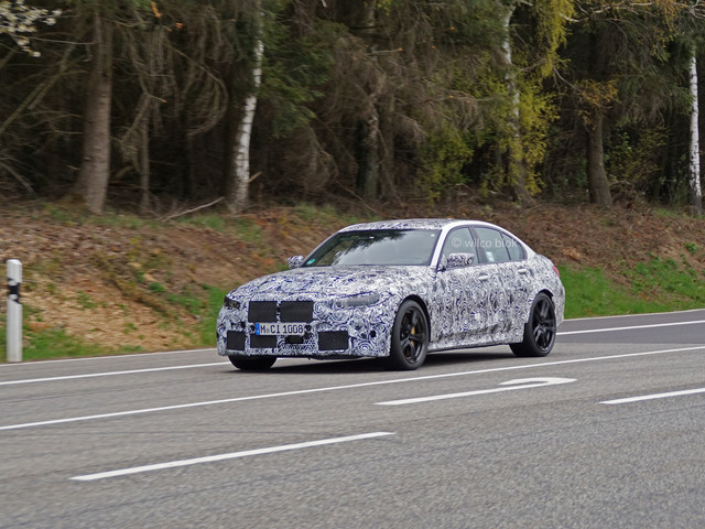 Upcoming BMW G80 M3 will come with an imposing kidney grille