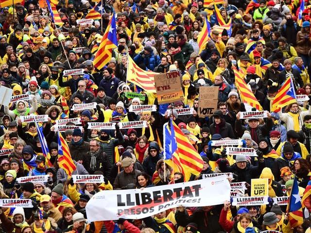 45.000 Catalanen op de been in Brussel