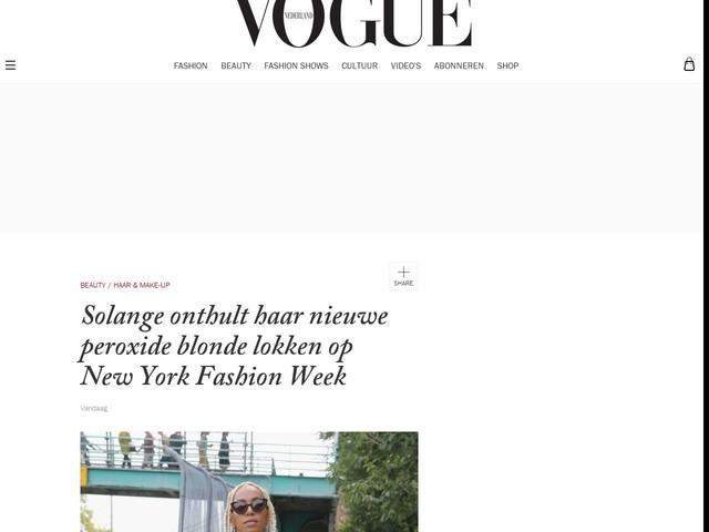 Solange onthult haar nieuwe peroxide blonde lokken op New York Fashion Week