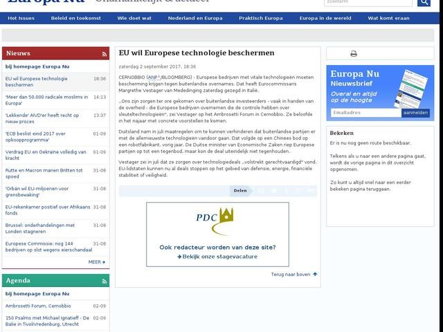EU wil Europese technologie beschermen