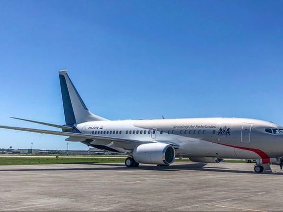 Eerste landing nieuw regeringstoestel op Woensdrecht, vliegtuig nu officieel van Nederland