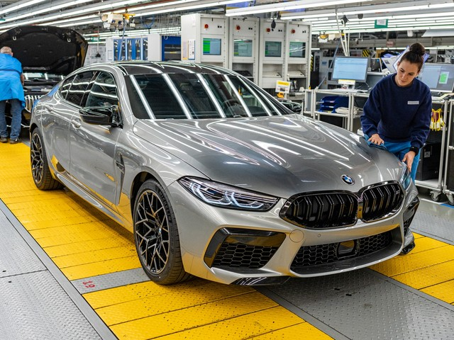 BMW starts production of the new M8 Gran Coupé at the Dingolfing plant