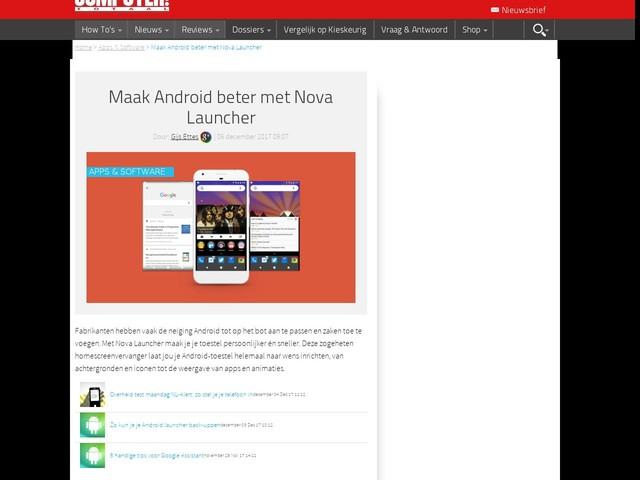 Maak Android beter met Nova Launcher