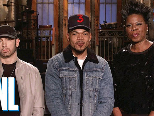 Eminem Helps Chance the Rapper Find New Name in 'SNL' Promo