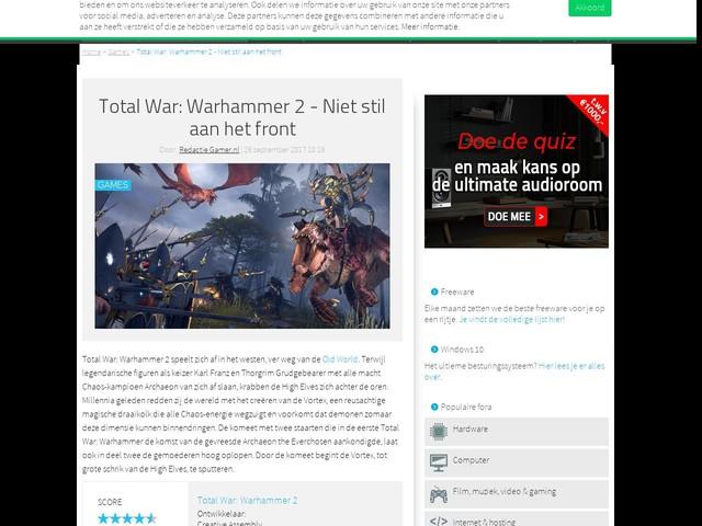 Total War: Warhammer 2 - Niet stil aan het front