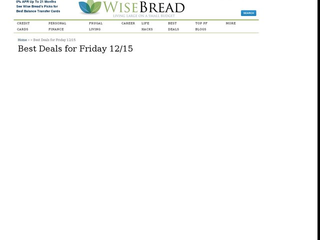 Best Deals for Friday 12/15