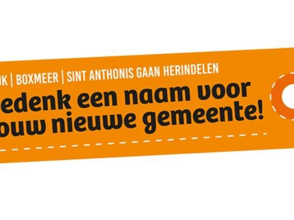 Meer dan 1000 suggesties voor nieuwe naam fusiegemeente, met de complimenten van de burgemeester!