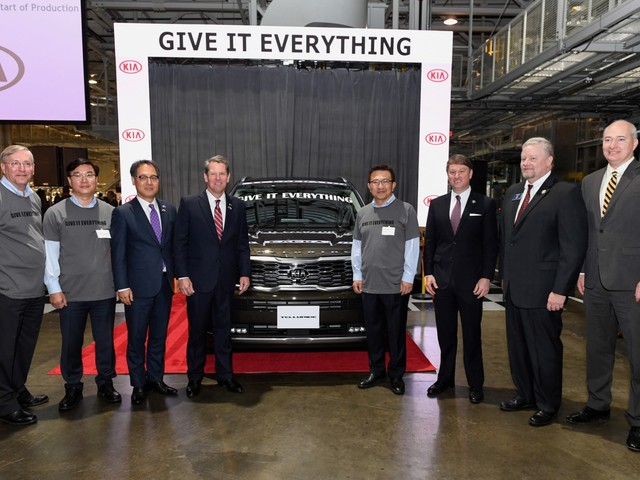 2020 Kia Telluride production kicks off in Georgia