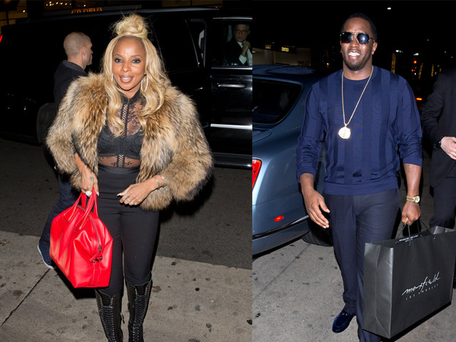 Mary J. Blige And Diddy Celebrate Her B'Day And Her Hollywood Walk Star Ceremony