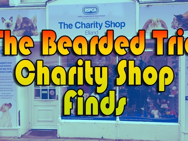 The Bearded Trio Charity Shop Finds - Sept 1st - Sept 10th. Featuring E.T. and Star Wars.