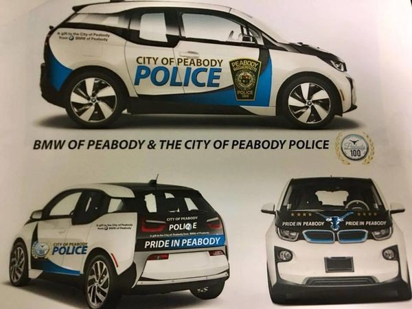 Peabody Police Department gets two BMW i3 squad cars