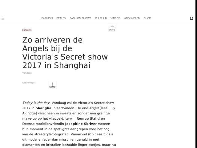 Zo arriveren de Angels bij de Victoria's Secret show 2017 in Shanghai