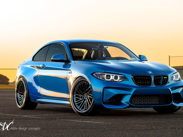 Long Beach Blue BMW M2 Gets New Wheels