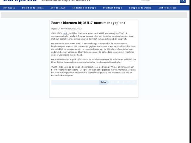Paarse bloemen bij MH17-monument geplant
