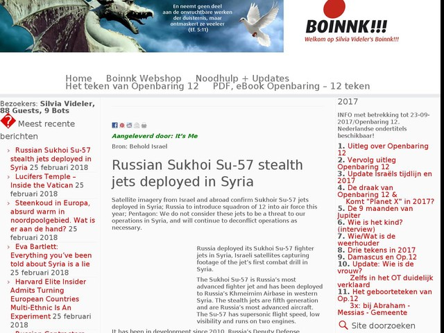 Russian Sukhoi Su-57 stealth jets deployed in Syria