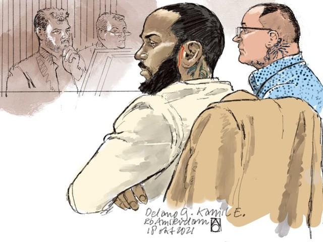 In de rechtszaal is de angst voor de man achter de moord op Peter R. de Vries groot