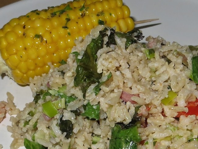 Maïskolven met salade