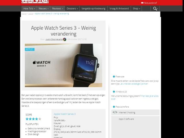 Apple Watch Series 3 - Weinig verandering
