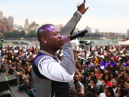 Rick Ross, O.T. Genasis, Pardison Fontaine & Casanova 2x Surprise Fans At Grits & Biscuits NYC Block Party