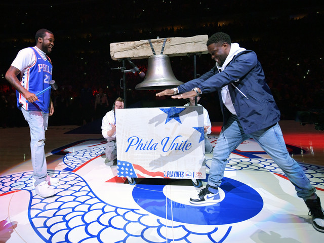 "Kevin Hart In Locker Room With Rev. Meek Mill At Sixers Game ""Meek Mill Got Fat As Sh*t"" [Video]"